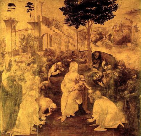 La Galerie des Offices et Leonardo: l'Adoration des Mages restaurée