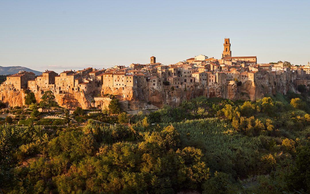 Les villes en colline de la Toscane