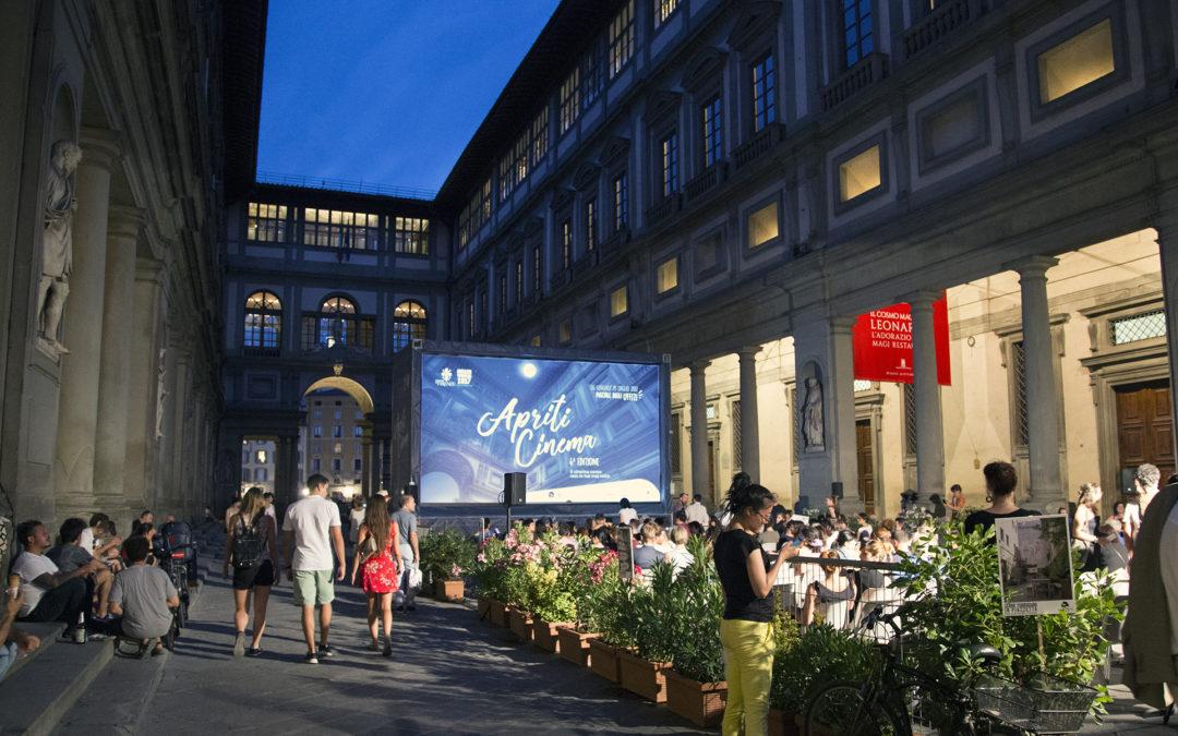 «Apriti Cinema» à la Galerie des Offices: le cinéma en plein air dans un lieu insolite